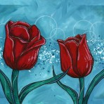 Tulips and Teal #1