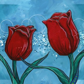 Tulips and Teal #2