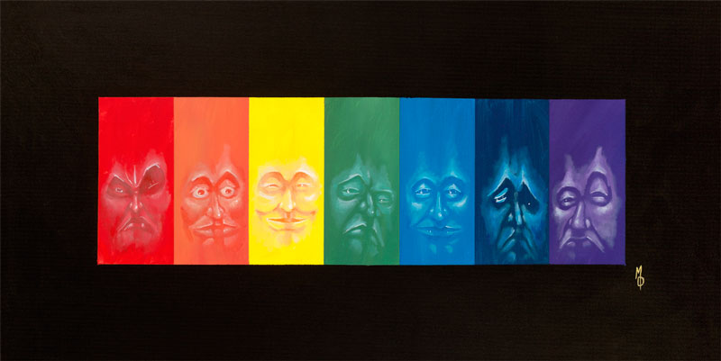 Spectral, Original Painting by Miles Davis of Massive Burn Studios