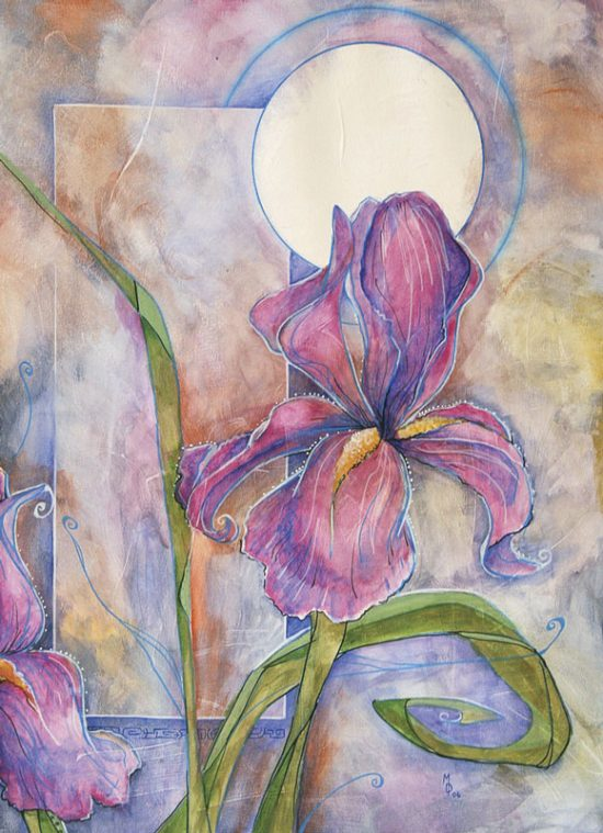 Iris in Twilight | Original Art by Miles Davis | Massive Burn Studios