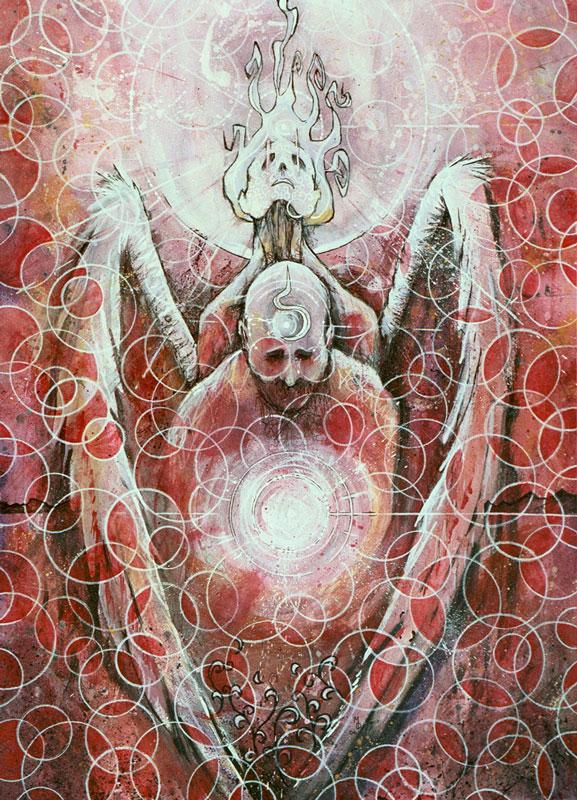 Protection in Purgatory   Original Art by Miles Davis   Massive Burn Studios