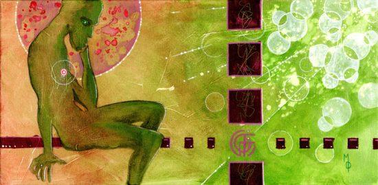 Modern Thinking Man | Original Art by Miles Davis | Massive Burn Studios