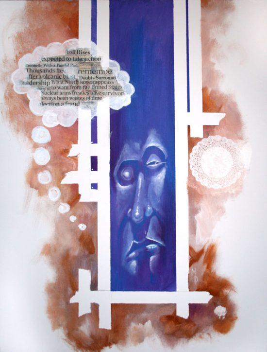 The Thinker | Original Art by Miles Davis | Massive Burn Studios