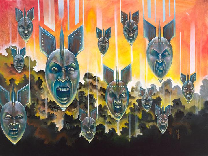 Sirens of Annihilation | Original Art by Miles Davis | Massive Burn Studios