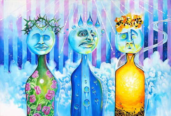 Elementals | Original Art by Miles Davis | Massive Burn Studios