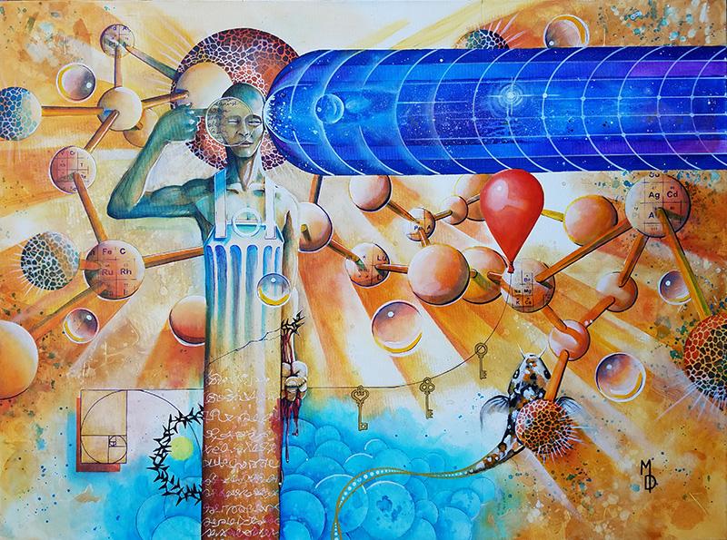 Creator's Sacrifice | Original Art by Miles Davis | Massive Burn Studios